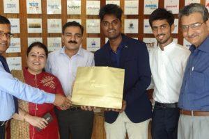 Felicitation of Mr Amar Naidu