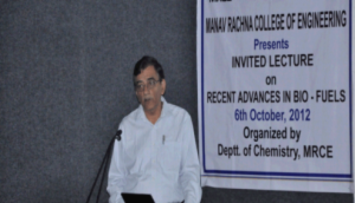 Invited talk on Recent Advances In Bio-Fuels by Dr. D.K. Tuli