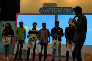 In collaboration with Google India Limited organized a Chatterboxing Competition