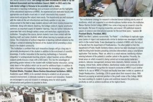 Article in Aspire Magazine (India Today) : Creating New Frontiers In Quality Dental Education And Research