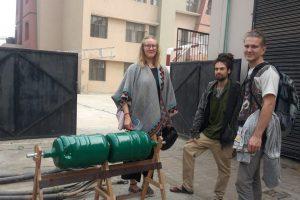 Composting Tumbler-Project at Manav Rachna University