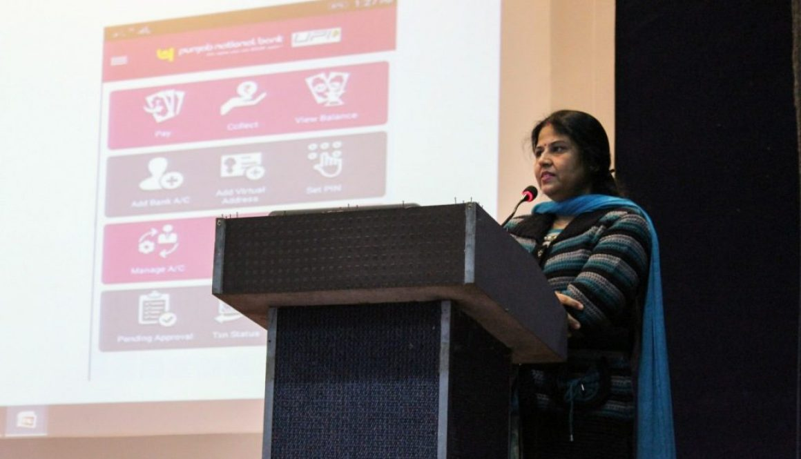 Presentation on cashless transactions by Department of Students Welfare, MRIU in association with Punjab National Bank