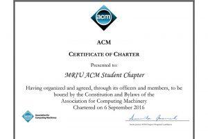MRIU ACM STUDENT CHAPTER