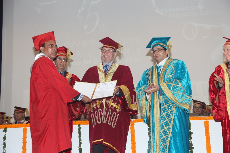5th Convocation of MRIU: Dr Richard Leslie Goodall, President, Auckland Institute of Studies, New Zealand awards degrees to bright and meritorious students