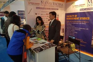 Faculty of Management Studies, MRIU at the MBA Bouquet Career Fair, Jaipur