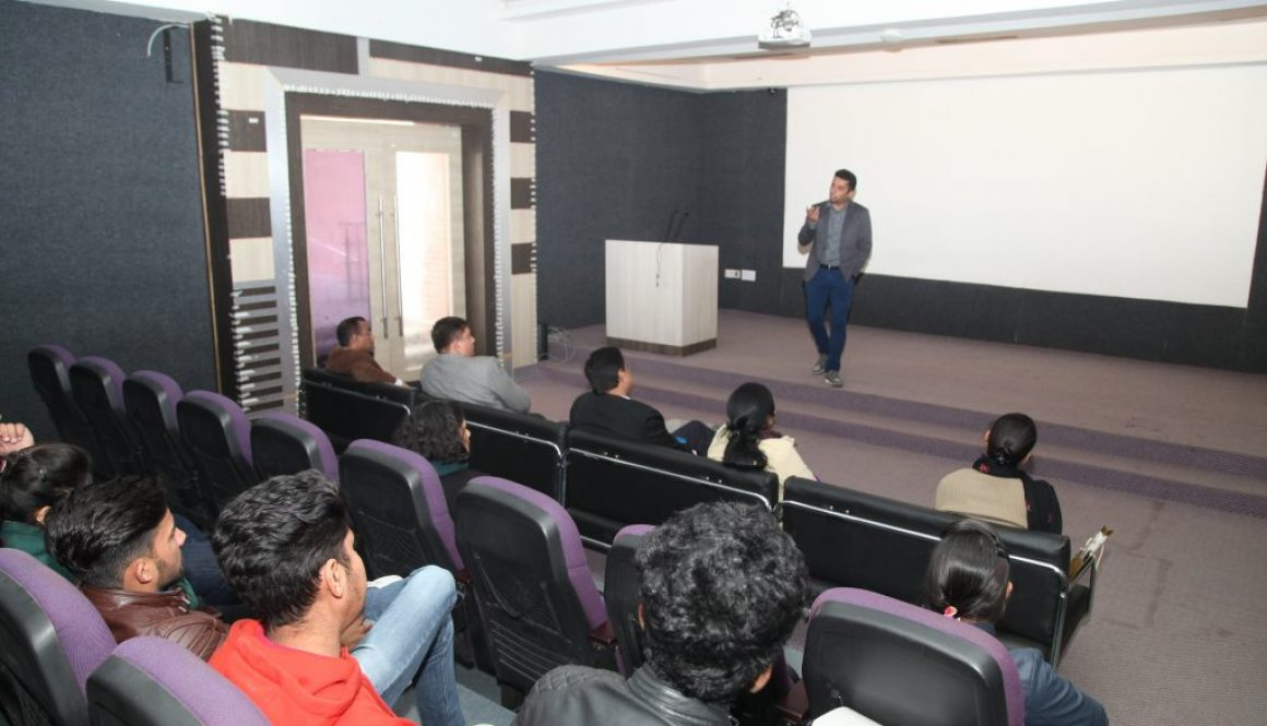 "Department of Management and Commerce organizes Guest lecture for BBA program students on ""Human Computer Interaction & opportunities to explore""  By Mr Animesh Tripathi"