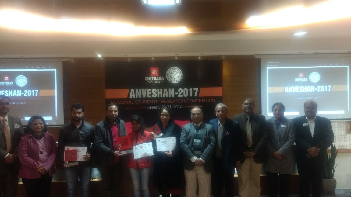 Five Teams with their projects from (MRIU) performed exceedingly well in four categories at the North Zone Convention of Anveshan 2017