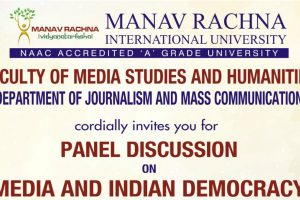 Panel Discussion on 'Media and Indian Democracy' At MRIU