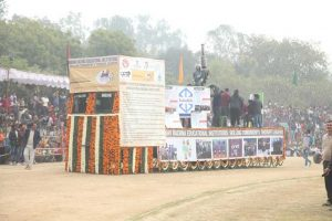 MREI takes part in the 68th Republic day celebrations at the 'Gantantra Divas Samaroha' in Faridabad with a tableau focusing on innovation and the skilling of its students