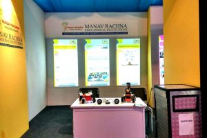 Manav Rachna Innovation and Incubation Centre intrigues visitors with students' projects at the 31st Surajkund Arts and Crafts Mela
