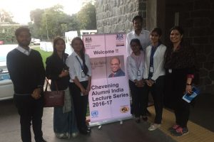 Students of BBA program at Department of Management and Commerce attend 9th Chevening India Lecture and panel Discussion