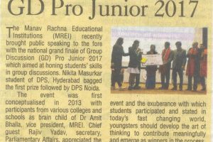 National Grand Finale of GD Pro Junior 2017 leaves students asking for more as they participate with great gusto and verve