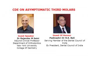 Lecture on Asymptomatic 3rd Molars by Dr. Saini