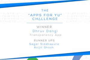 """First Prize at Yureka """" Apps for YU Challenge"""""""