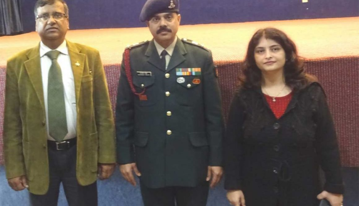 Indian Army visited the Manav Rachna campus for UES