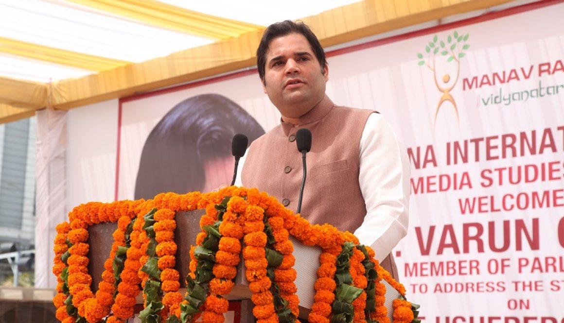 Special Lecture by Member of Parliament, Sh. Varun Gandhi, in Manav Rachna