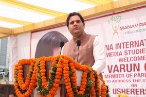 Special Lecture by Member of Parliament, Sh. Varun Gandhi, in Manav Rachna