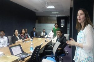 Dr. Jo Barnes, Faculty of Environment and Technology, University of the West of England, visited Manav Rachna University