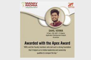 Proud Moment – Apex Award at Accenture