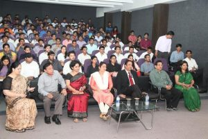Dr. Rajshri Singh, IG, Crime Branch addressed the Students of Manav Rachna!