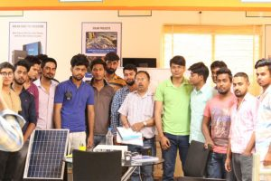 Training of Solar Energy to the students by Sukam