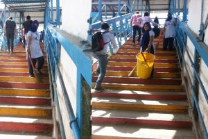 Report on Cleaning Drive at Faridabad Railway Station by Faculty of Computer Applications (FCA)