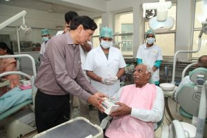 Dr. O.P Bhalla Foundation organizes 4th Free Denture Delivery Programme at Manav Rachna!