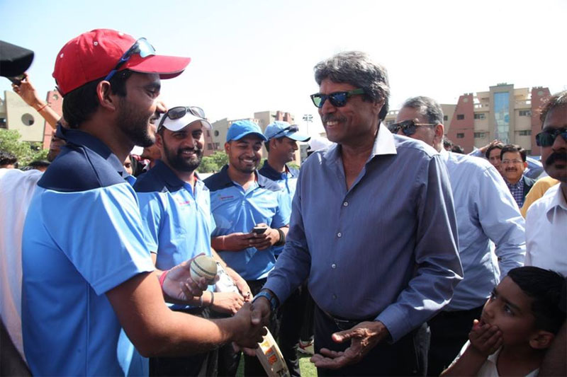 Legendary Cricketer Sh. Kapil Dev inaugurated the final match of the 10th Manav Rachna Corporate Cricket Challenge Cup as cricket fever reached an all-time high!