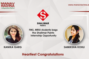 FMS, MRIU students bags the Shalimar Paints Internship Opportunity