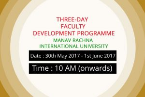 Three-Day Faculty Development Programme to be held on Quality Benchmarks for Academic Excellence