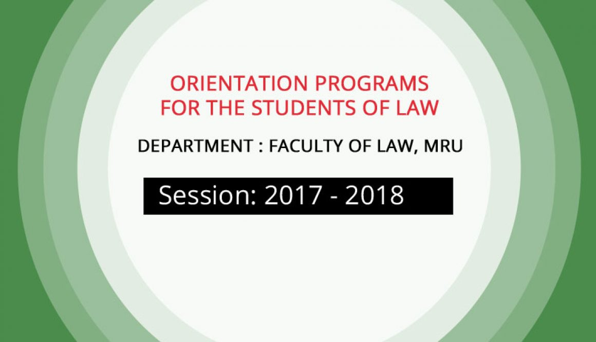 Orientation Programs for the students of Law