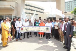 MRDC, Lions Club & ESIC Medical College, Faridabad, organizes Walkathon on World No Tobacco Day