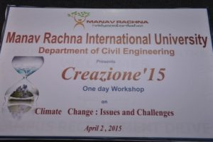 One day workshop on climate change-issues & challenges