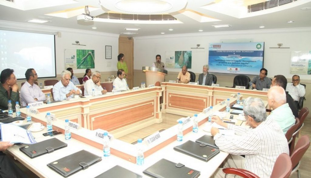 'Technology Intervention for Management of Saline and Polluted Aquifier' Workshop conducted at MRIU (5)