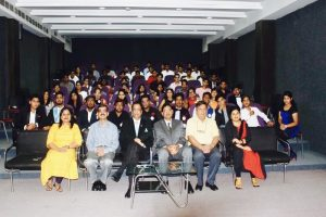 A colourful event was organised by the students of BBA, First Year MRU