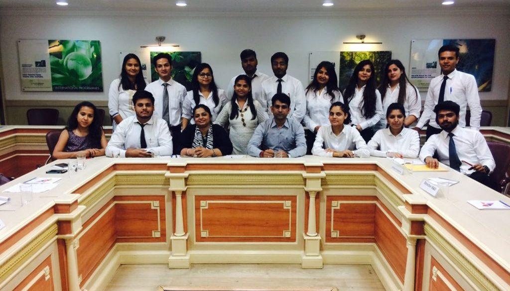 Department of Business Studies, FCBS, Manav Rachna International University conducted a 'Mock Business meeting' (5)