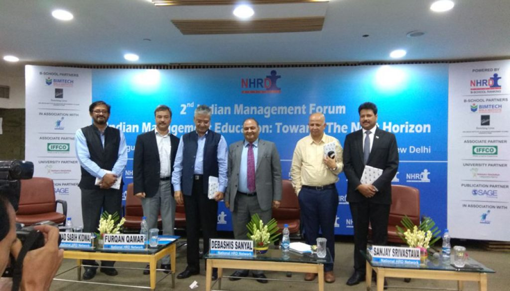 Dr. Sanjay Srivastava was invited as a speaker at NHRDN's 2nd Indian Management Forum (2)