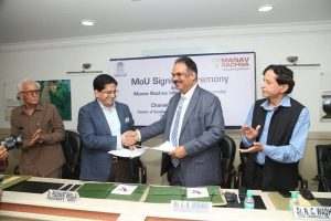 Manav Rachna International University signs MoU With Chanakya  IAS Academy to train potential Civil Servants