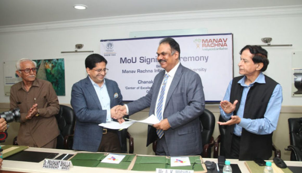 Manav Rachna International University Inks a Pact With Chanakya  IAS Academy to train civil services aspirants