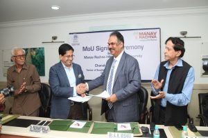 Manav Rachna Signed MoU with Chanakya IAS Academy for Center of Excellence for IAS Coaching