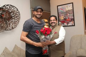 Renowned Indian Cricketer, Harbhajan Singh visited Manav Rachna Sports Science Centre