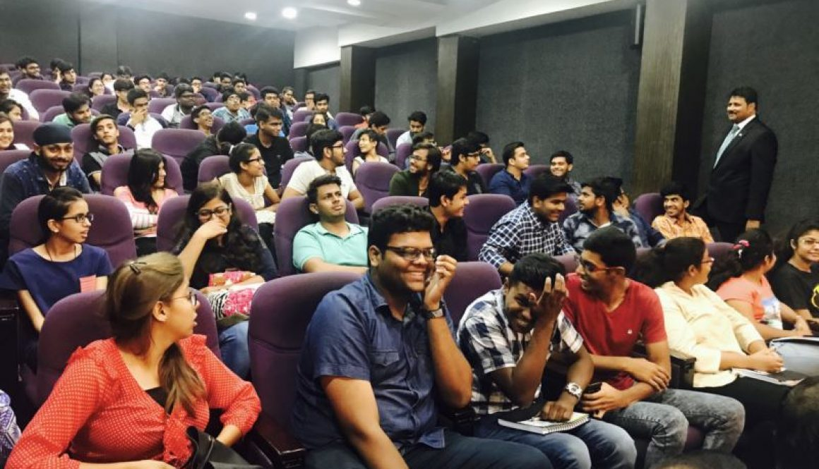 Vice Chancellor, MRU interaction with students of BBA, first year