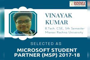 Vinayak Kumar – Microsoft Student Partner