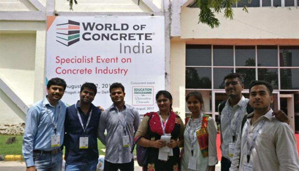 Visit to World of Concrete, Pragati Maidan by PG Students of Department of Civil Engineering (1)