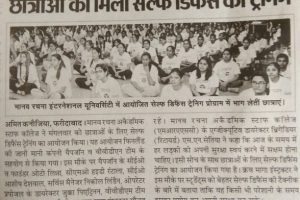 Manav Rachna organised Self Defence Training for girl students