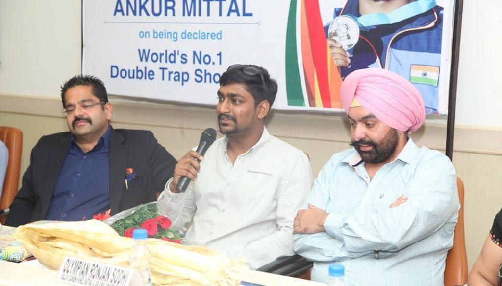 Manav Rachna felicitates Ankur Mittal - World's No. 1 Double Trap shooter (1)
