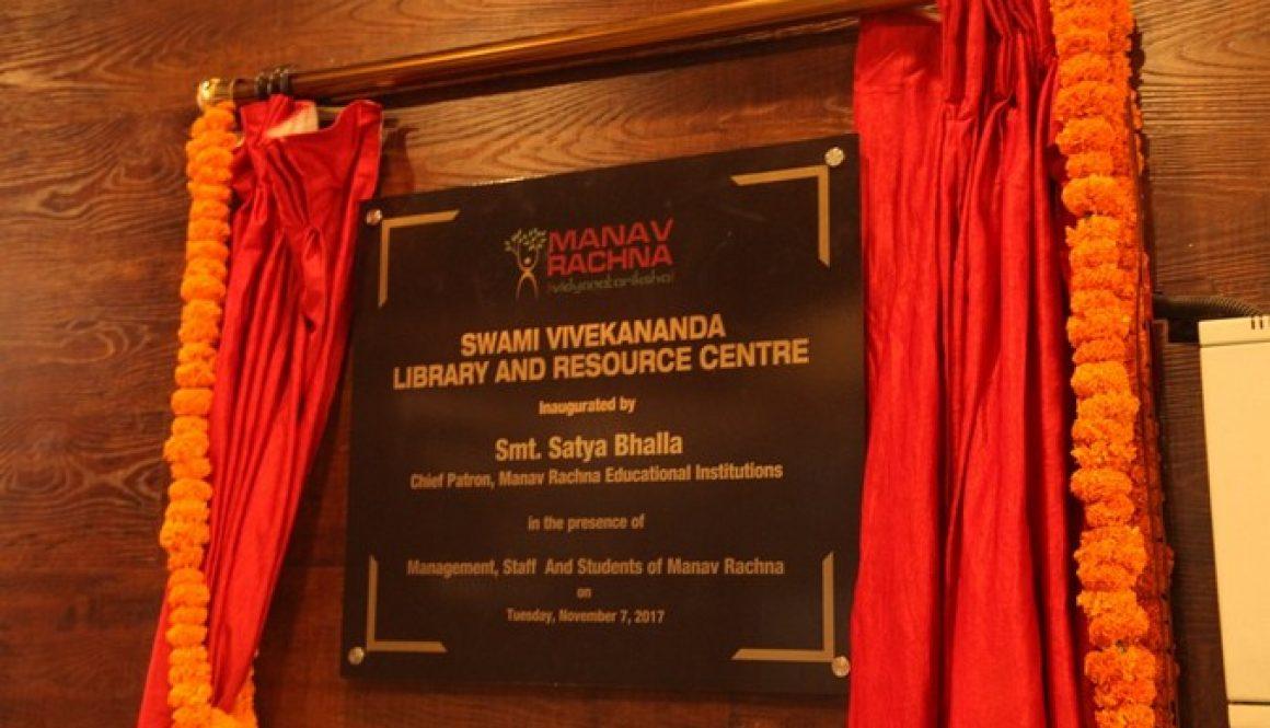 'Swami Vivekananda Library and Resource Centre' inaugurated at Manav Rachna University