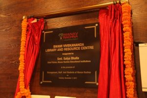 'Swami Vivekananda Library and Resource Centre' inaugurated at Manav Rachna University