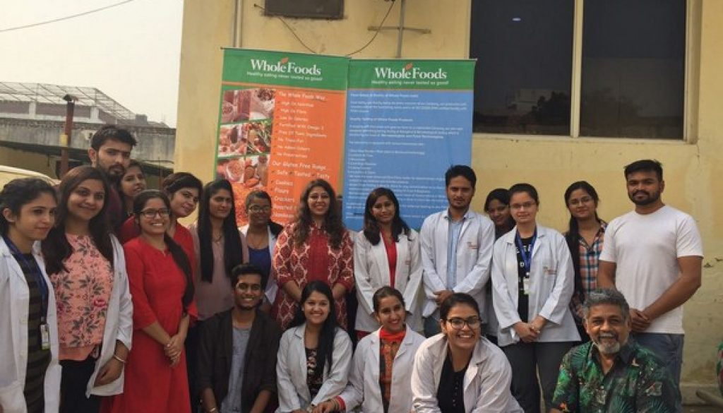 Industrial Visit to Whole Foods Pvt. Ltd, Faridabad