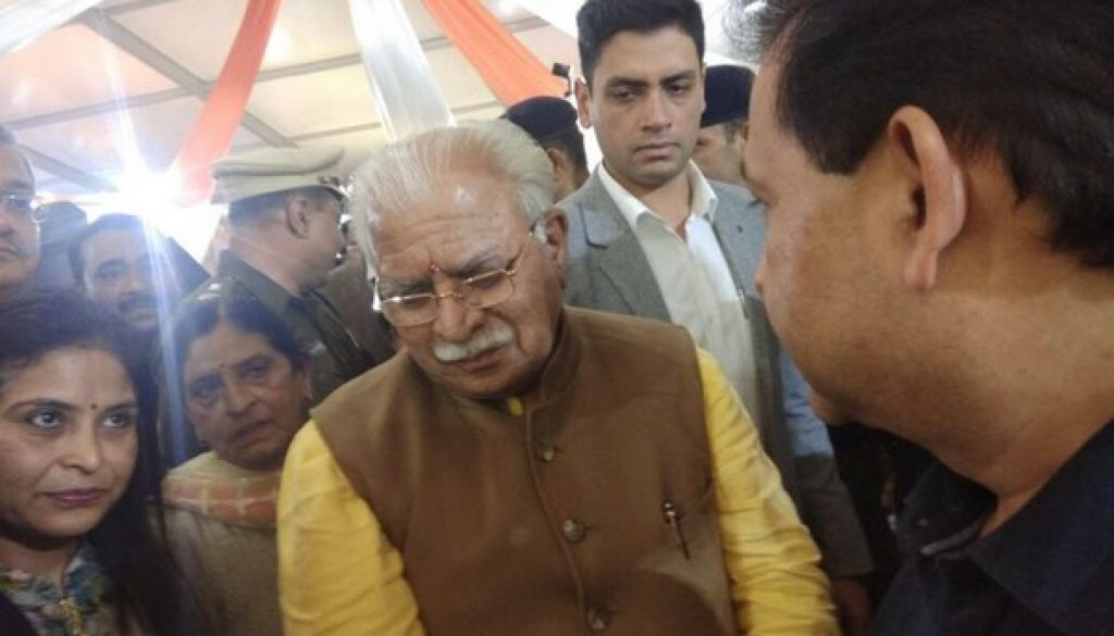 Manav Rachna's work draws great admiration from Hon'ble Chief Minister of Haryana Shri Manohar Lal Khattar at IITF 2017! (1)